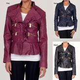 Members Only Member's Only Women's Peplum Ruffle Jacket