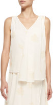Band Of Outsiders Swing V-Neck Tank W/ Faint Print