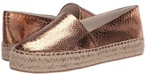 Jack Rogers Palmer Espadrille Snake Embossed (Silver) Women's Shoes