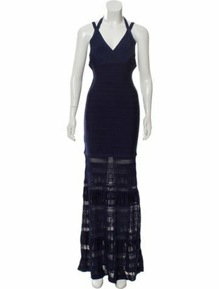 Herve Leger 2018 Maxi Bandage Dress w/ Tags Navy