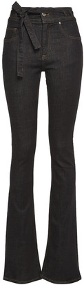 Victoria Victoria Beckham Belted High-rise Bootcut Jeans
