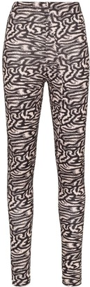 MAISIE WILEN Pixelated print high-waisted leggings