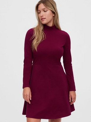 Gap Turtleneck Fit & Flare Dress