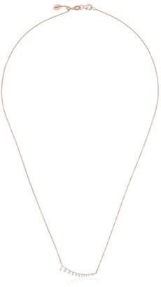 Jade Trau rose gold luna diamond pendant necklace