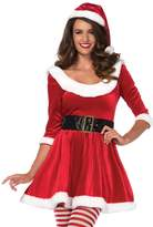 Leg Avenue Women's Plus Size 3PC.Santa Sweetie, Velvet Dress w/Belt, Hat