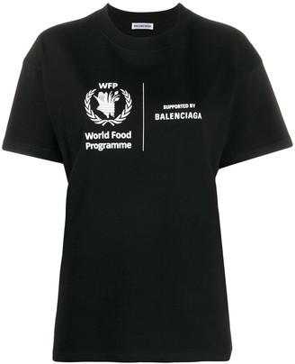 Balenciaga World Food Programme print T-shirt