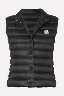 Moncler Quilted Shell Down Vest - Black