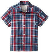 Quiksilver Everyday Check Short Button Up Sleeve Shirt Boy's T Shirt