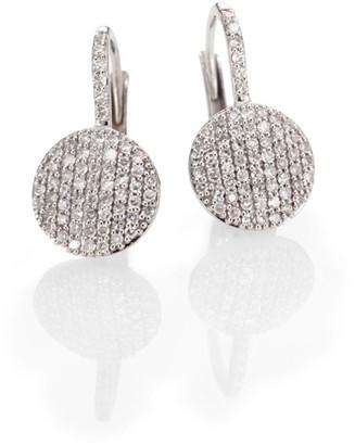 Phillips House Diamond & 14K White Gold Disc Drop Earrings