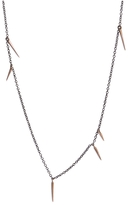 Marion Cage Small 18 Inch Point Scatter Necklace - Rose Gold