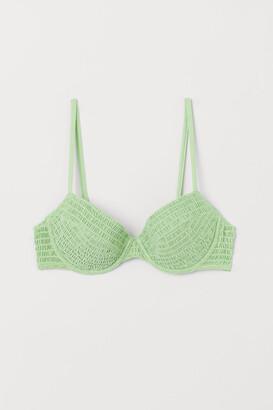 H&M Padded Bikini Top - Green