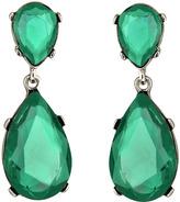 Green Austrian Crystal Teardrop Earrings