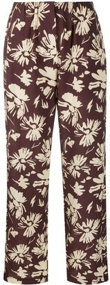Nanushka Crepe Finish Floral Print Trousers