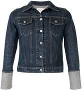 Helmut Lang Pre Owned 1990's turn up sleeves denim jacket