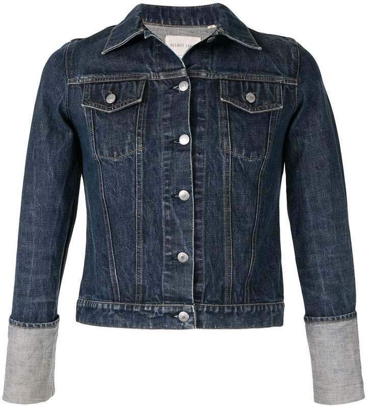 Helmut Lang Pre-Owned 1990's turn up sleeves denim jacket