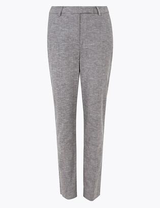 Marks and Spencer Mia Slim Linen Ankle Grazer Trousers