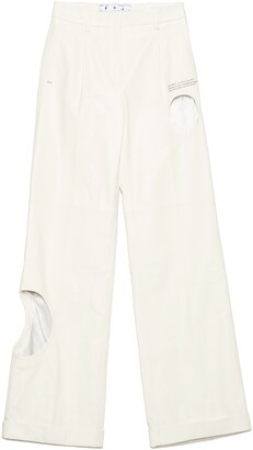 Off-White Meteor Wide Leg Leather Pants