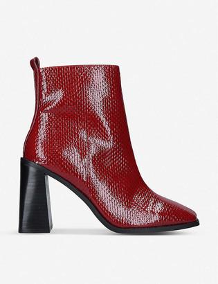 Aldo Eugenius snakeskin print boots