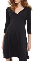 Topshop Women's Surplice Maternity Skater Dress