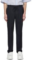 Juun.J Navy Pinstripe Trousers