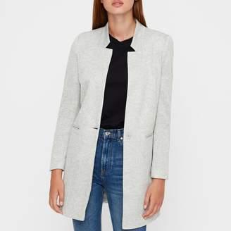 Vero Moda Longline Straight Collarless Jacket with Pockets