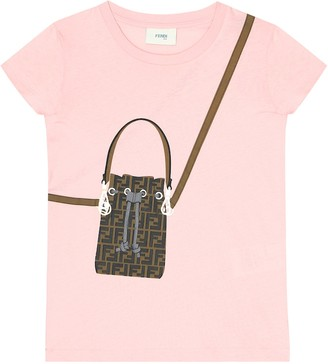 Fendi Kids Printed cotton-jersey T-shirt