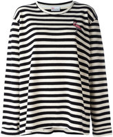 RED Valentino striped jumper - women - Cotton/Acrylic/Polyester/Viscose - S