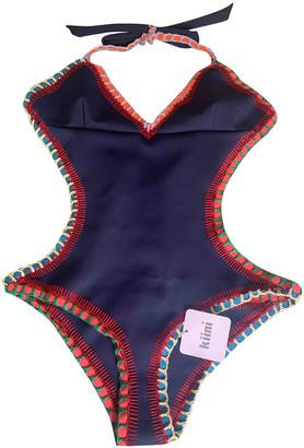 Kiini Blue Synthetic Swimwear