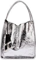 Proenza Schouler Medium Metallic Leather Tote Bag, Silver