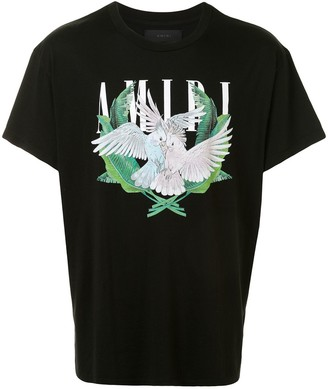 Amiri bird couple print T-shirt