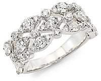 Hearts On Fire Women's HOF Classics 18K White Gold & Round Diamond Bezel Regal Ring