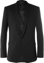Dolce & Gabbana - Black Embroidered Stretch-wool Suit