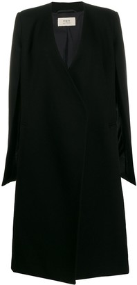 Ports 1961 Open Sleeve Textured Cape Coat