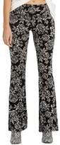 Billabong Women's Turn Me Round Floral Print Velvet Flare Pants