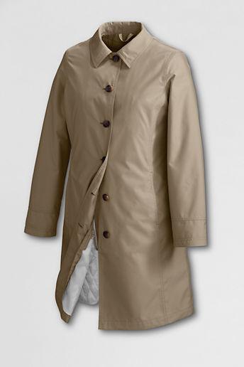 Lands' End Women's Regular SunShower Raincoat with Zip-out Liner