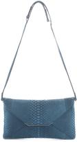 VBH Blue Python Leather First Edition Adjustable Strap Shoulder Handbag