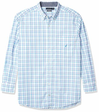Nautica Men's Big & Tall Printed Button Down Shirt