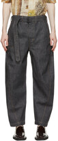 Thumbnail for your product : Lemaire SSENSE Exclusive Grey Twisted Jeans