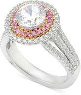 Marchesa Certified Diamond Engagement Ring (2-1/2 ct. t.w.) in 18k White Gold and Rose Gold, Created for Macy's