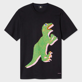 Paul Smith Men's Black Organic-Cotton 'Dino' Print T-Shirt