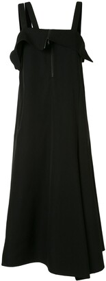 Yohji Yamamoto Side-Slit Midi Dress