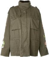 Off-White flower print military jacket - women - Cotton/Polyester - S