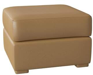 Omnia Leather Prescott Ottoman Omnia Leather Body Fabric: Empire Butternut, Seat Cushion Fill: Standard Cushion Fill