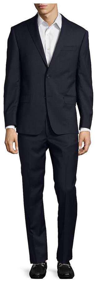 Michael Kors Check Slim Wool Suit