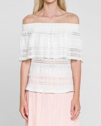 Express Endless Rose Off The Shoulder Lace Top