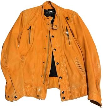 Dolce & Gabbana Orange Leather Jackets