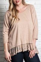 Umgee USA Lace Detail Shirt