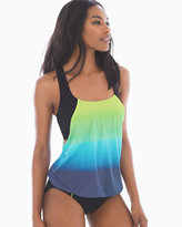 Soma Intimates Ocean Reef Blouson T-Back Tankini Swim Top