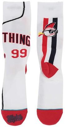 Stance Major League Jersey (White) Men's Crew Cut Socks Shoes