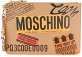Moschino Parcel clutch bag